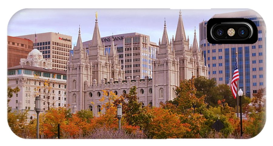 Lds IPhone X Case featuring the photograph Salt Lake City Lds Temple by Nathan Abbott