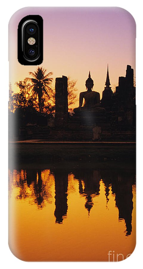 Ancient IPhone X Case featuring the photograph Wat Mahathat by Gloria & Richard Maschmeyer - Printscapes