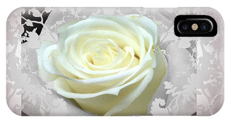 Dusty Pink Rose IPhone X Case featuring the photograph Wedding Rose Collection by Debra   Vatalaro
