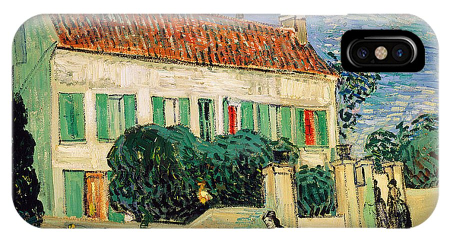 Vincent Van Gogh IPhone X Case featuring the painting White House At Night by Vincent Van Gogh