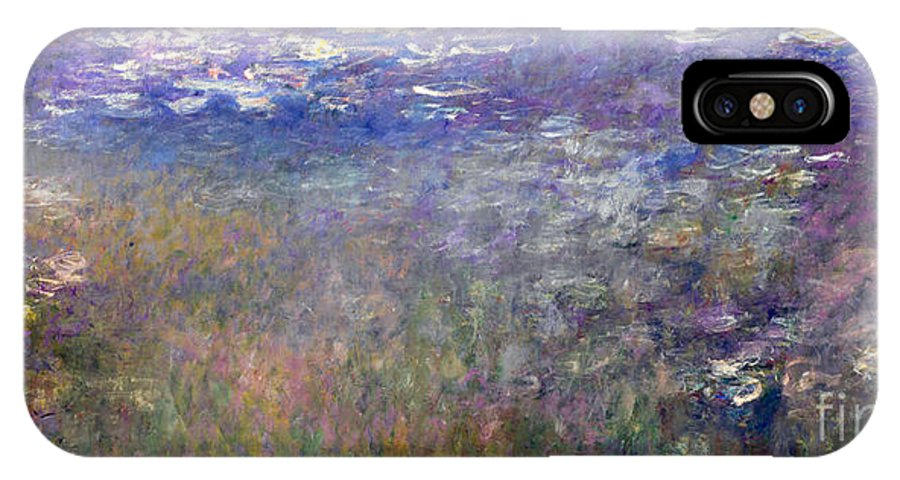 Claude IPhone X Case featuring the painting Water Lilies by Claude Monet