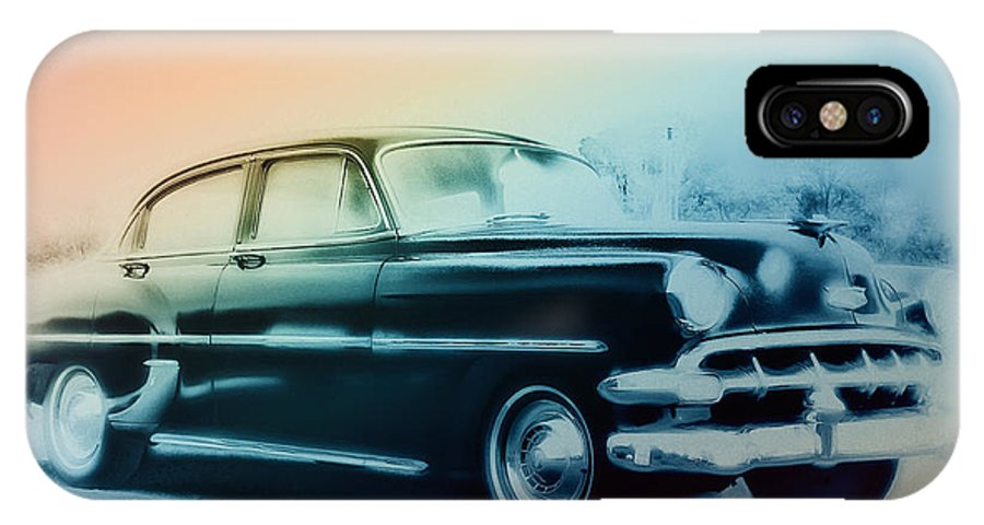 1954 IPhone X Case featuring the photograph 54 Chevy by Bill Cannon