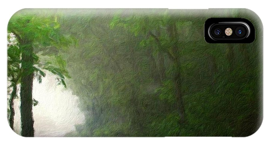 Landscape IPhone X Case featuring the painting Landscape Nature Scene by World Map