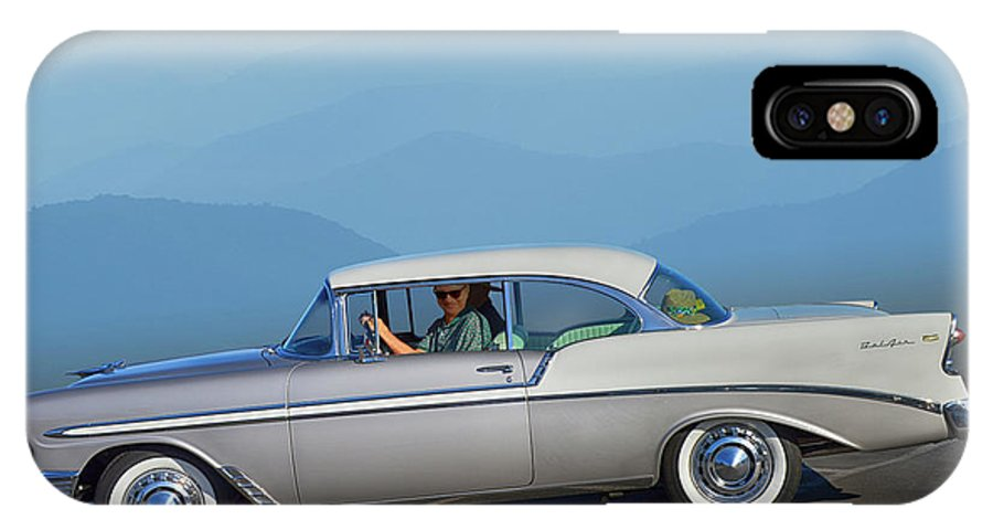 Chevy IPhone X / XS Case featuring the photograph 56 Bel Air by Bill Dutting