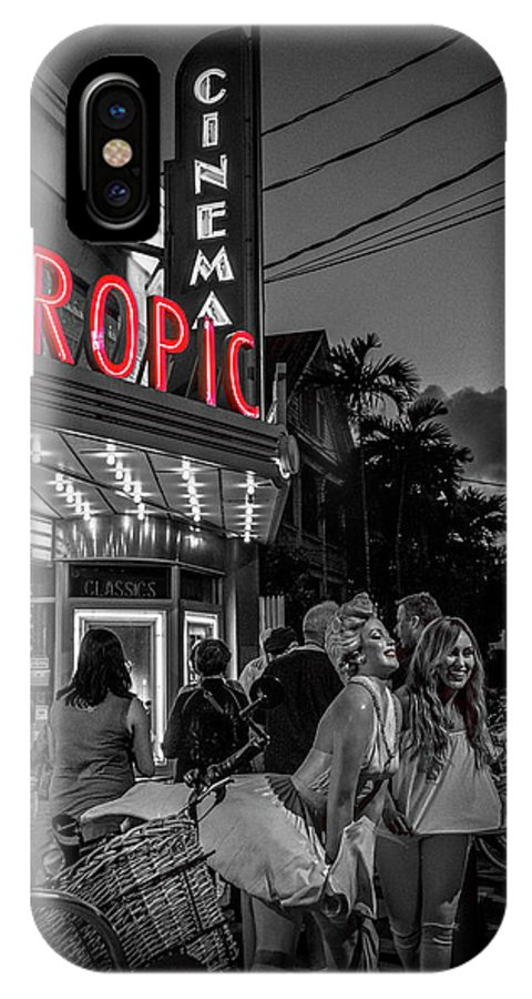 Florida IPhone X Case featuring the photograph 5828- Tropic Theater by David Lange