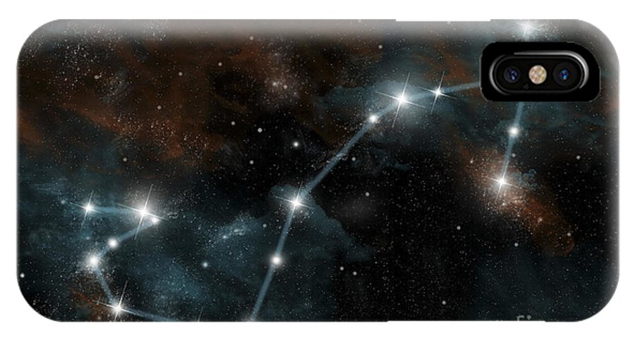 Antares IPhone X Case featuring the digital art Artists Depiction Of The Constellation by Marc Ward