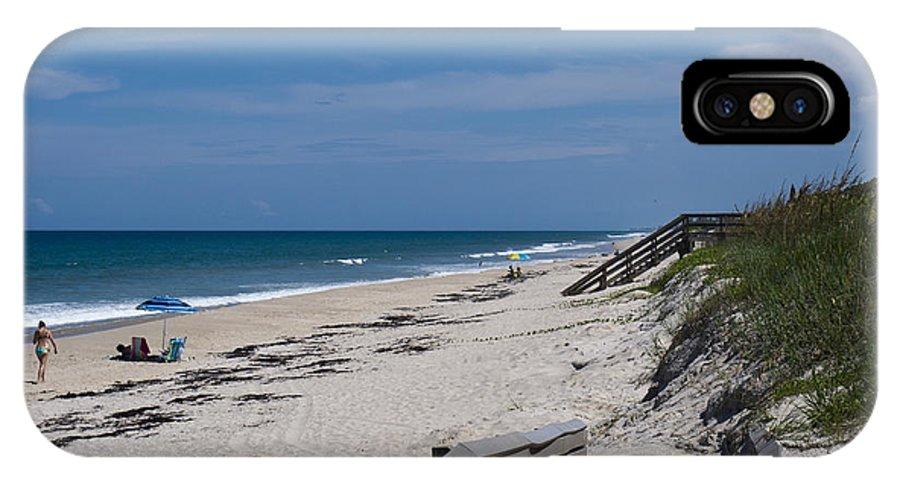 Florida IPhone X Case featuring the photograph Brevard County Florida Beaches by Allan Hughes