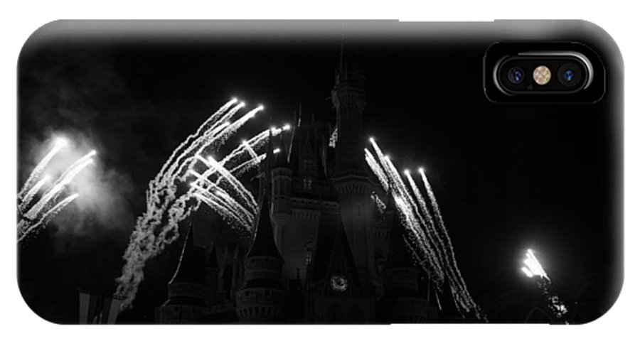 Walt Disney World IPhone X Case featuring the photograph Cinderella Castle by Rob Hans