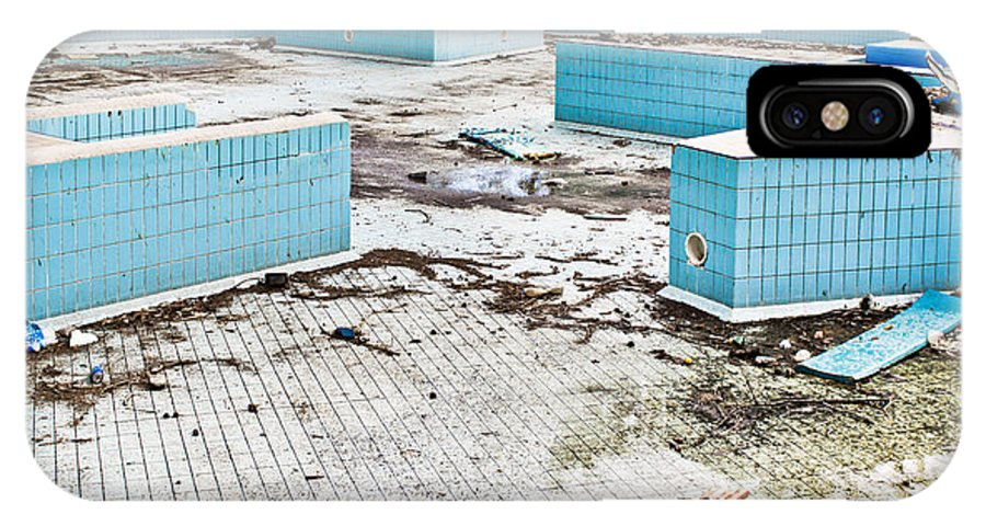 Algae IPhone X Case featuring the photograph Derelict Swimming Pool by Tom Gowanlock