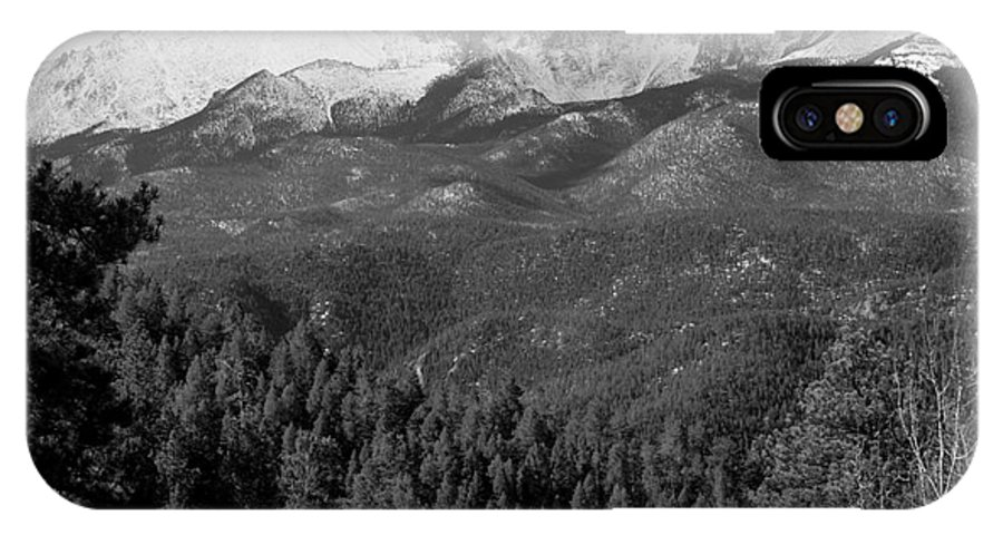 Nature IPhone X Case featuring the photograph Fresh Snow On Pikes Peak by Steve Krull