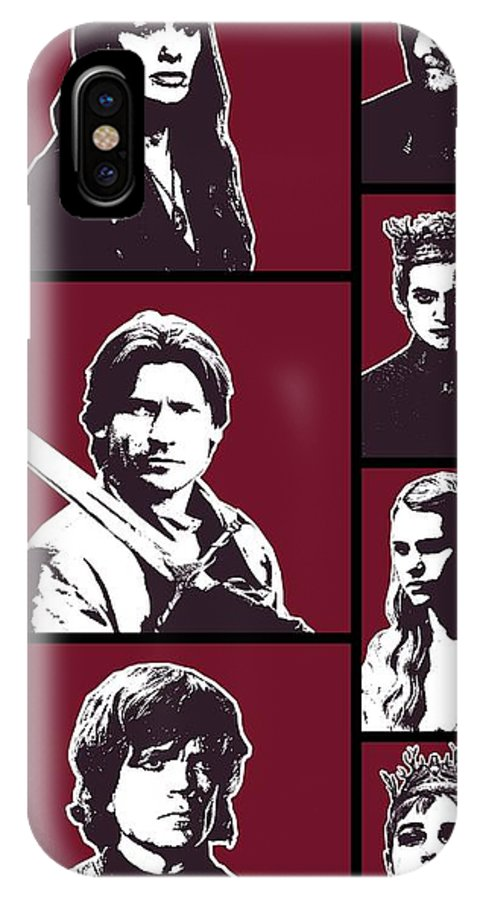 Game Of Thrones IPhone X Case featuring the digital art Game Of Thrones. Lannister. by Nadezhda Zhuravleva