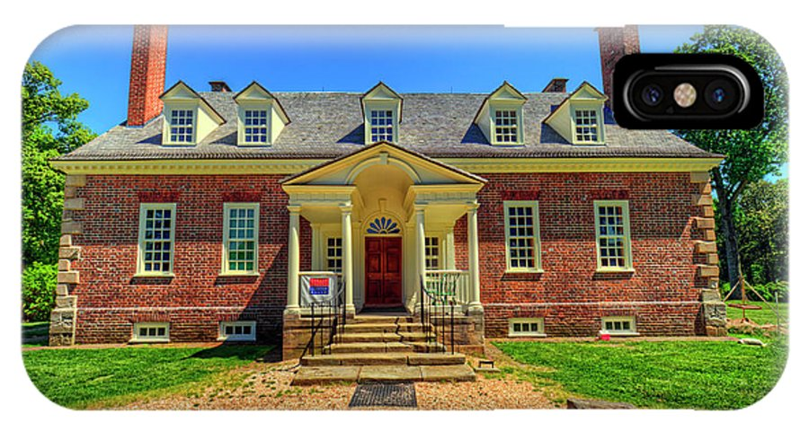 Gunston Hall IPhone X Case featuring the photograph George Mason's Gunston Hall by Craig Fildes