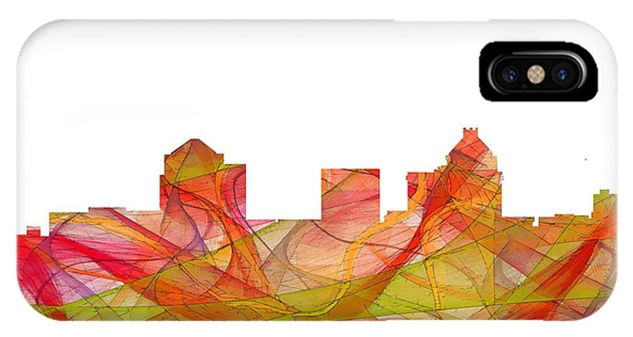 Greensboro North Carolina Skylineskyline IPhone X Case featuring the digital art Greensboro North Carolina Skyline by Marlene Watson