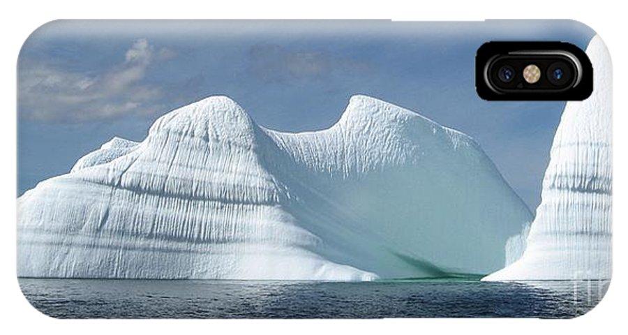 Iceberg Photograph Ice Water Ocean Sea Atlantic Summer Newfoundland IPhone X Case featuring the photograph Iceberg by Seon-Jeong Kim
