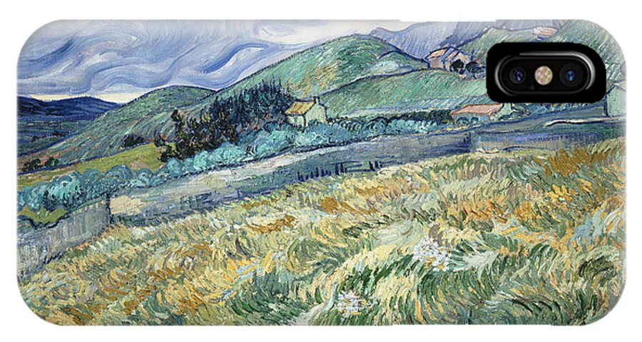 Van Gogh IPhone X Case featuring the photograph Landscape From Saint-remy by Vincent van Gogh