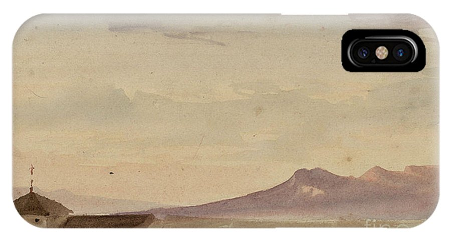 Maria Fortuny IPhone X Case featuring the painting Landscape by MotionAge Designs