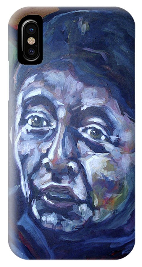 Painting IPhone X Case featuring the painting rob by Rob Den Duijf