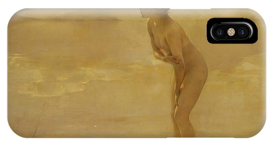 French Art IPhone X Case featuring the painting September Morn by Paul Chabas