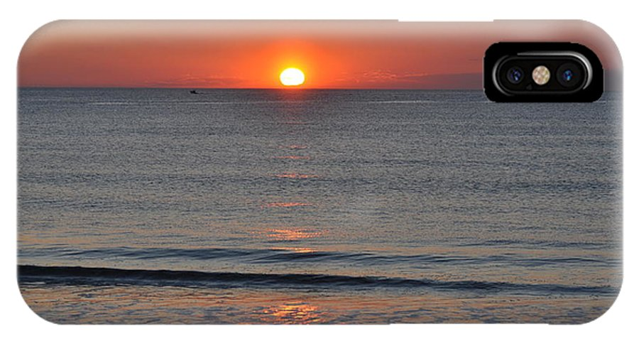 Sunrise IPhone X Case featuring the photograph Sunrise by Jo-Ann Matthews