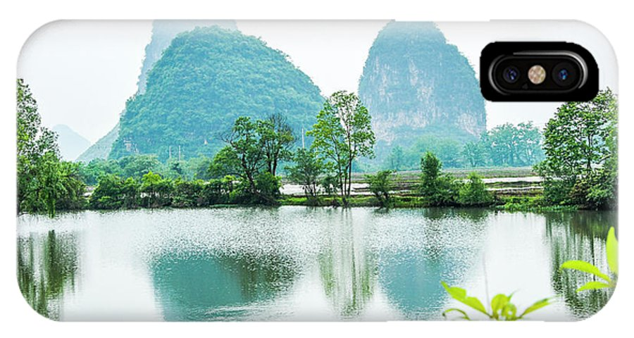 The Beautiful Karst Rural Scenery In Spring IPhone X Case featuring the photograph Karst Rural Scenery In Spring by Carl Ning