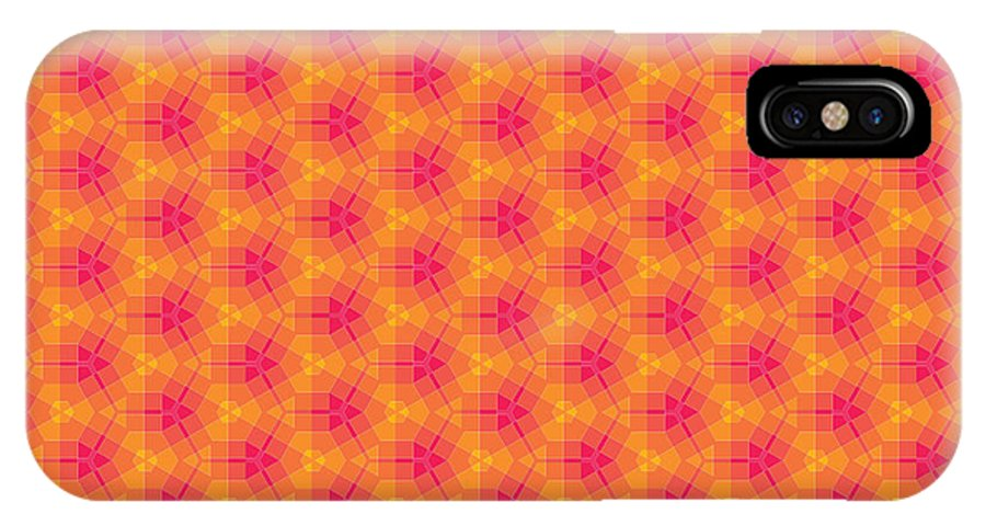 Marjan Mencin IPhone X Case featuring the digital art Arabesque 060 by Marjan Mencin
