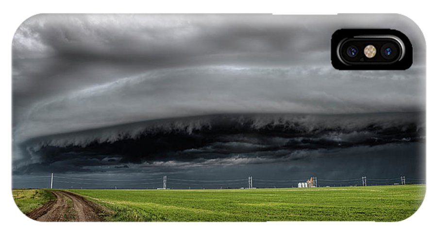Summer IPhone X Case featuring the photograph Storm Clouds Saskatchewan by Mark Duffy