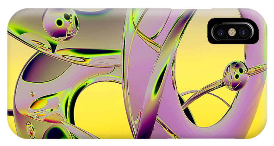 Scott Piers IPhone X Case featuring the painting 6jkb by Scott Piers