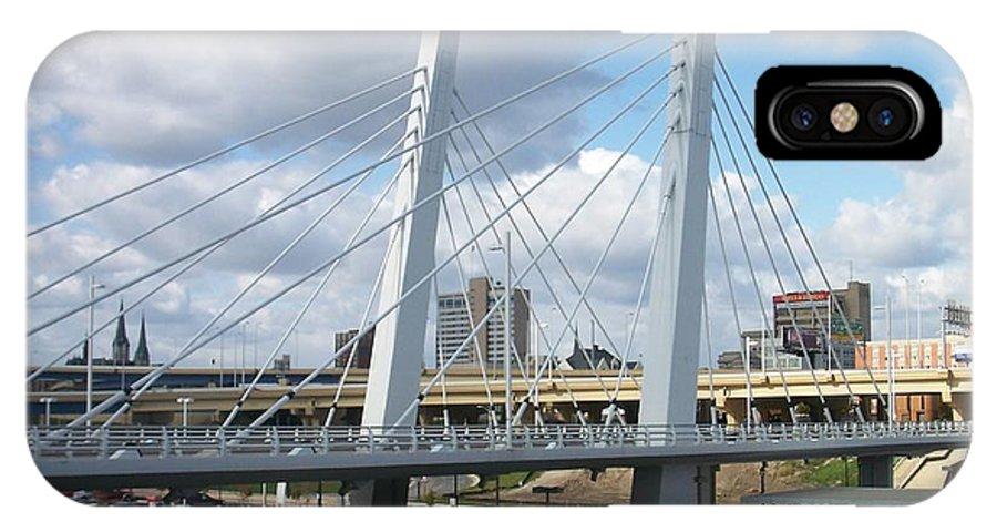 Bridge IPhone X Case featuring the photograph 6th Street Bridge by Anita Burgermeister