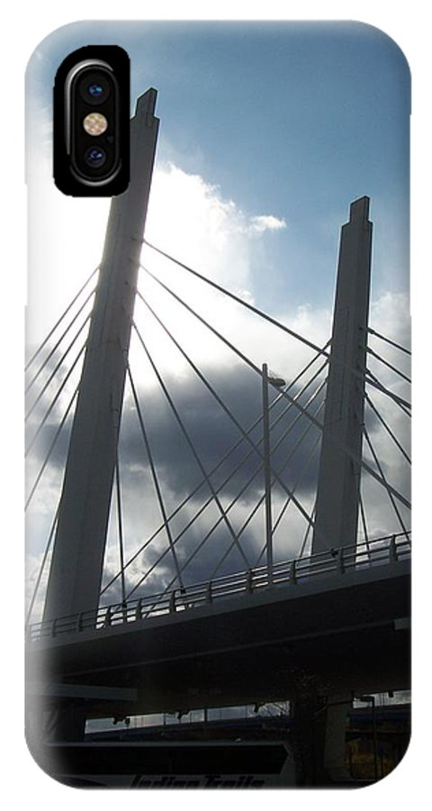 Bridge IPhone Case featuring the photograph 6th Street Bridge Backlit by Anita Burgermeister