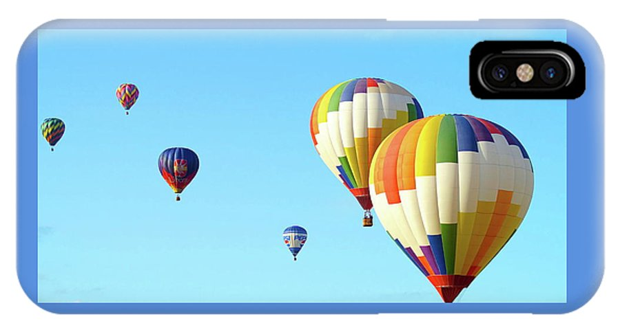 Balloons IPhone X Case featuring the photograph 7 Balloons by Linda Cupps