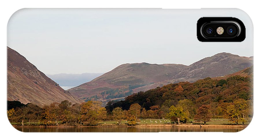 Buttermere Lake IPhone X / XS Case featuring the photograph Buttermere by Smart Aviation