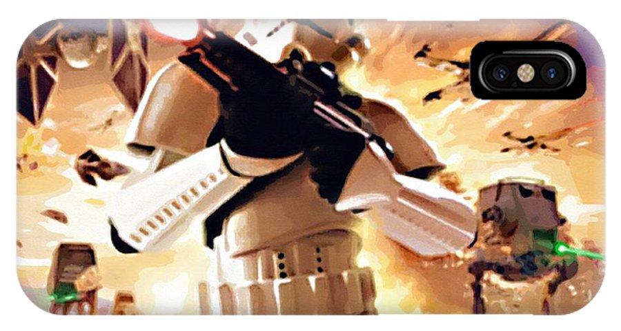 Anakin Star Wars IPhone X Case featuring the digital art Collection Star Wars Art by Larry Jones