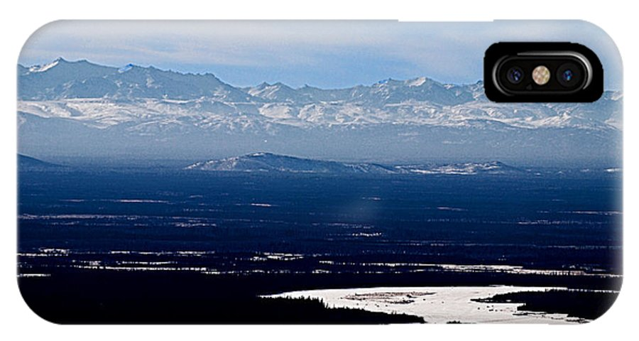 Denali Park Alaska Snow Montain Blue Sky Landscape Artic Denali Park Alaska Snow Montain Blue Sky Landscape Artic Framed Prints IPhone X Case featuring the photograph Denali Park - Alaska by Galeria Trompiz