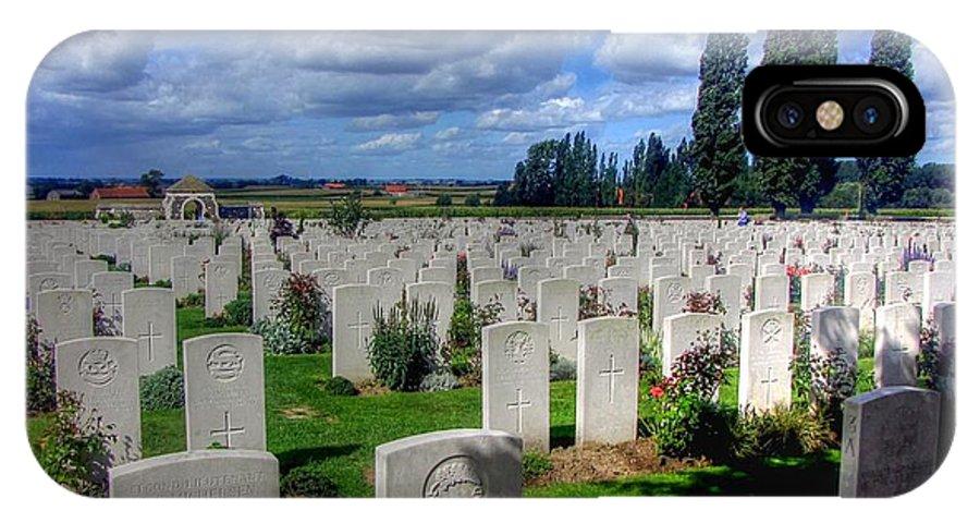 Flanders Fields Belgium IPhone X Case featuring the photograph Flanders Fields Belgium by Paul James Bannerman