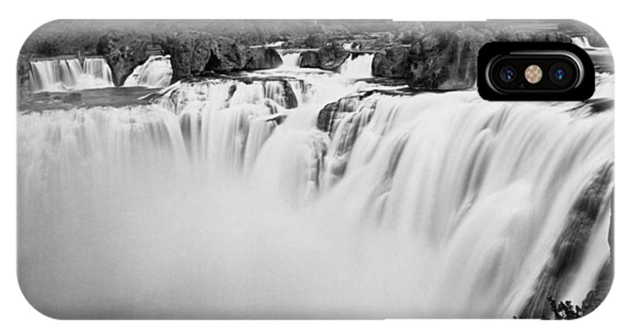 1868 IPhone X Case featuring the photograph Idaho: Shoshone Falls by Granger