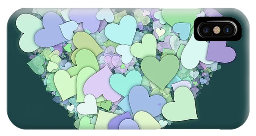 Heart IPhone X / XS Case featuring the digital art Love Heart Valentine Shape by Miroslav Nemecek