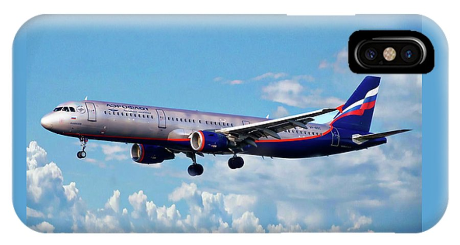 Transport IPhone X Case featuring the photograph Passenger Plane by Anthony Dezenzio