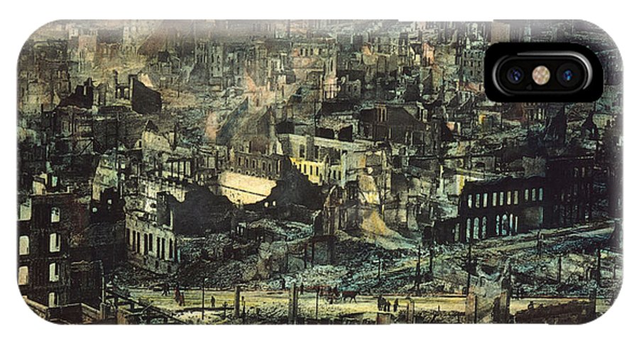 1906 IPhone X Case featuring the photograph San Francisco Earthquake by Granger