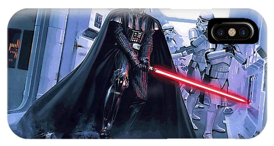 Star Wars Knights Old Republic IPhone X Case featuring the digital art Star Wars Saga Art by Larry Jones