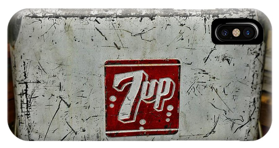 Paul Ward IPhone X Case featuring the photograph 7 Up Vintage Cooler by Paul Ward