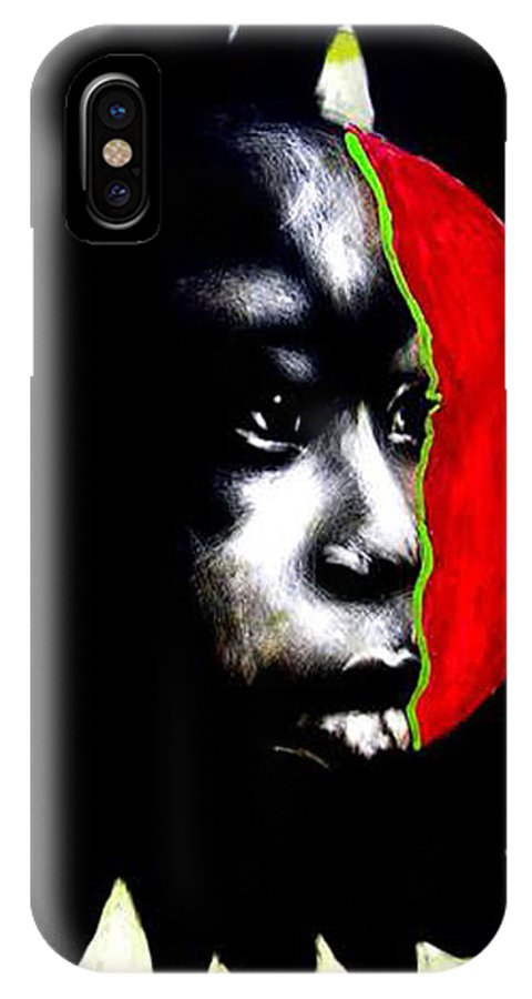 IPhone X Case featuring the mixed media 70 Sunshine by Chester Elmore