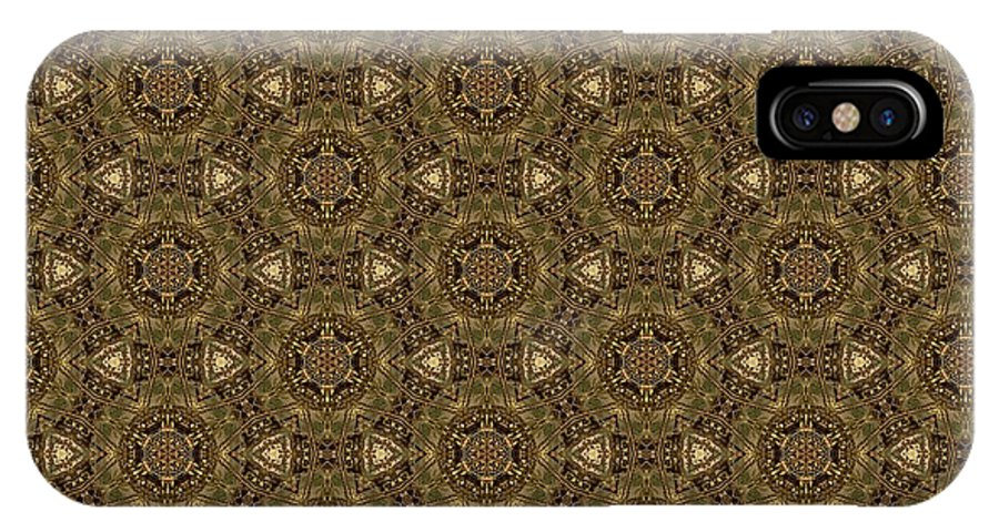 Marjan Mencin IPhone X Case featuring the digital art Arabesque 001 by Marjan Mencin