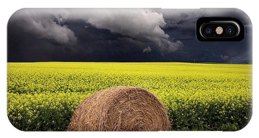 Summer IPhone X Case featuring the photograph Storm Clouds Saskatchewan by Mark Duffy