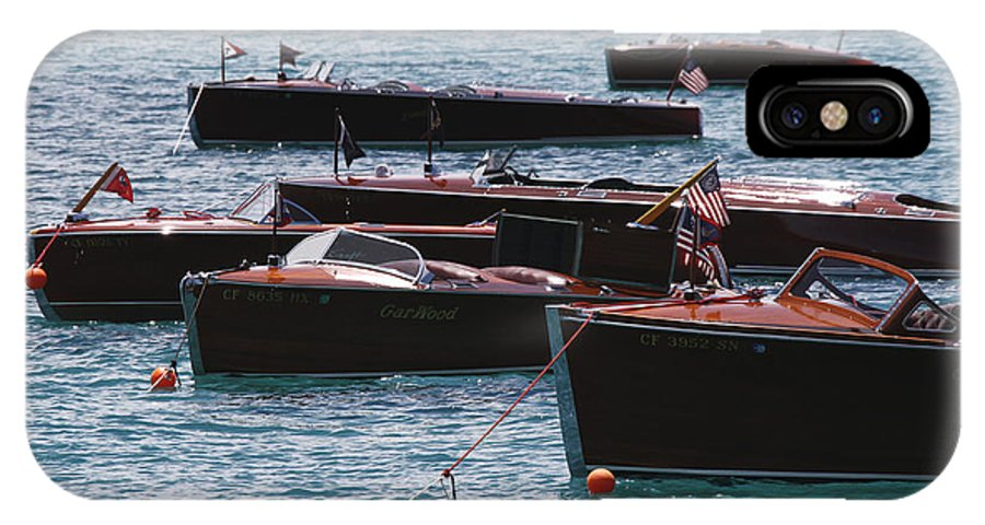 Runabout IPhone X Case featuring the photograph Classic Wooden Runabouts by Steven Lapkin