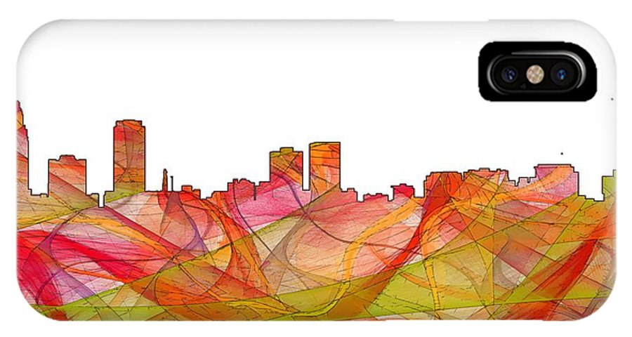 Baton Rouge Louisianaskyline IPhone X Case featuring the digital art Baton Rouge Louisiana by Marlene Watson