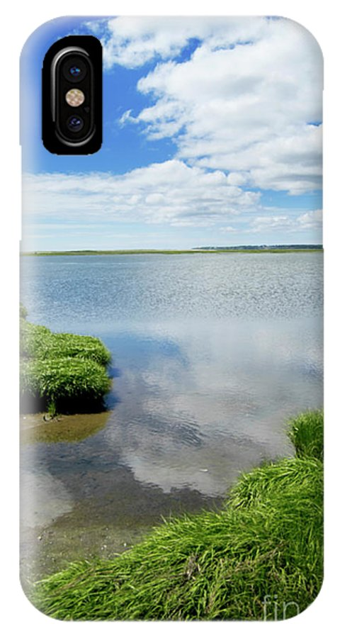Cape Cod IPhone X Case featuring the photograph Cape Cod Salt Pond by Michelle Himes