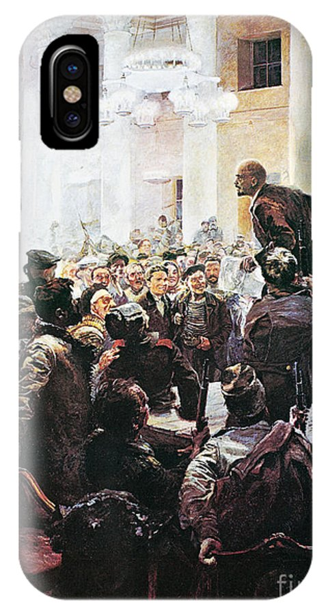 1917 IPhone X Case featuring the photograph Russian Revolution, 1917 by Granger