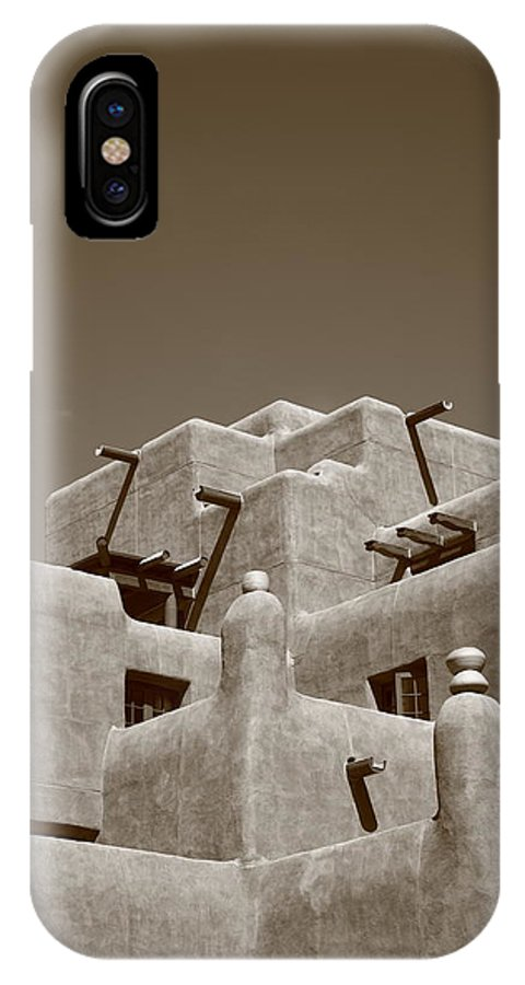 66 IPhone X Case featuring the photograph Santa Fe - Adobe Building by Frank Romeo