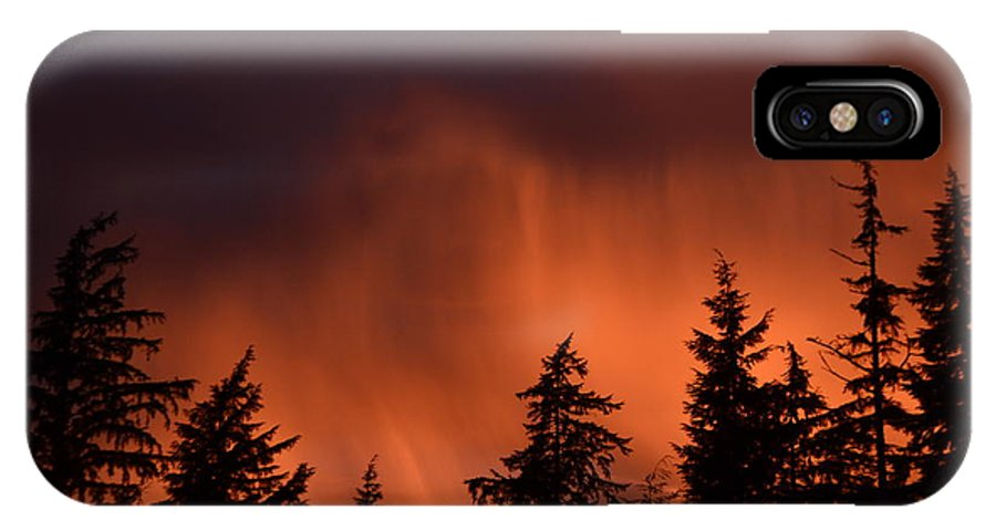 Sunset IPhone X / XS Case featuring the photograph Sunset by Larry Poulsen