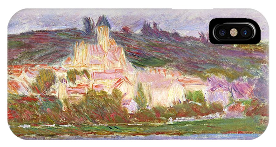 Claude IPhone X Case featuring the painting Vetheuil by Claude Monet